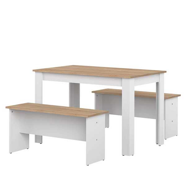Table salle à manger + 2 bancs