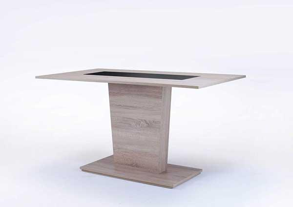 Table colonne en bois