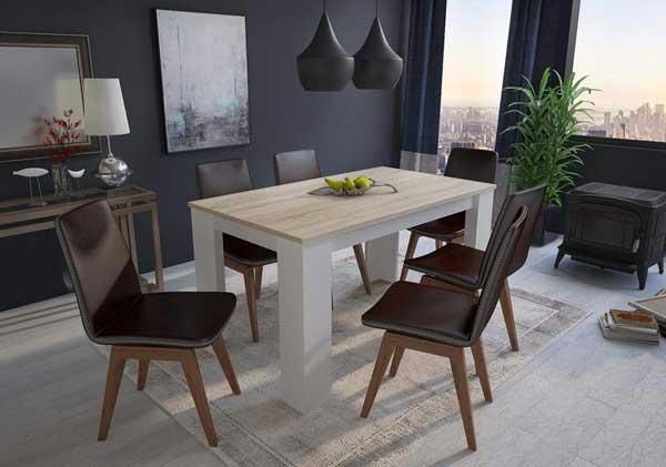 Table salle à manger chêne blanc
