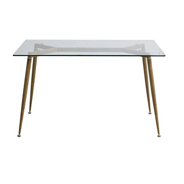 Table plateau en verre style Scandinave