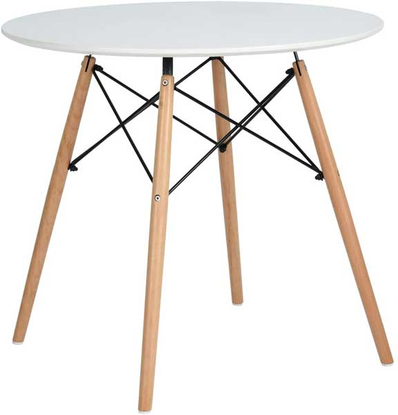Table ronde style scandinave