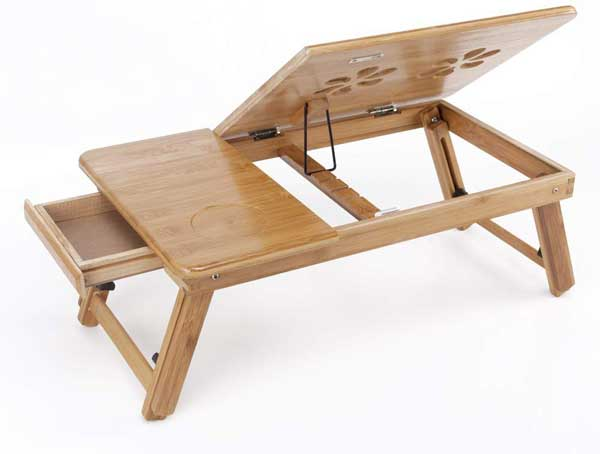 Petite table de lit pliable en bois