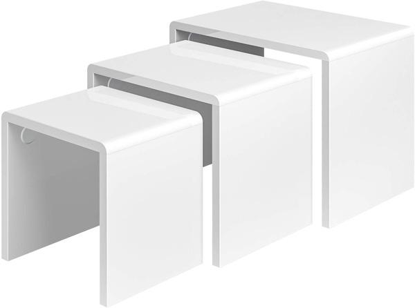 3 tables gigognes bois blanc