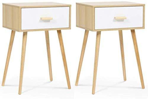 2 tables de chevet style scandinave