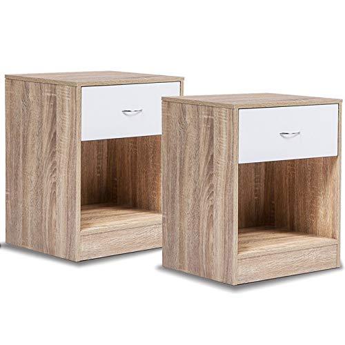 2 Tables de chevet façon hêtre