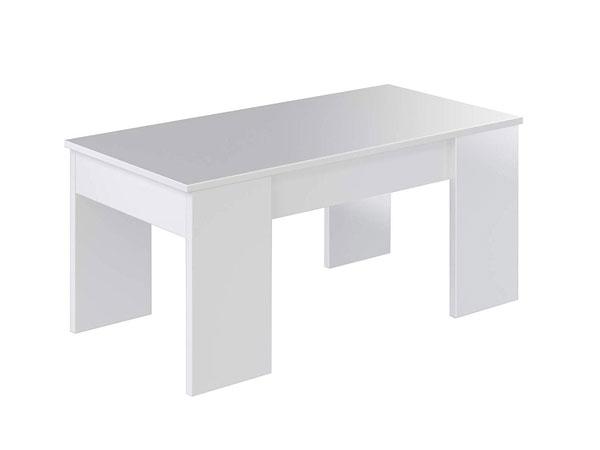 Table basse avec plateau réglable