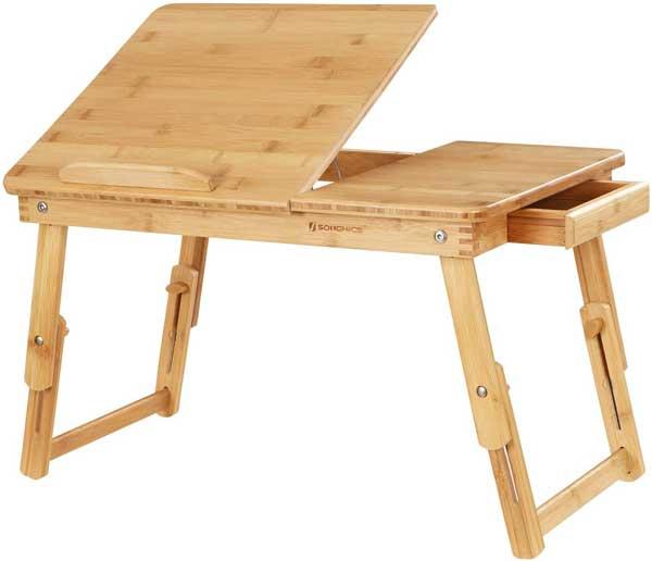 Table de lit bois de bambou