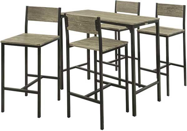 Table haute + 4 chaises