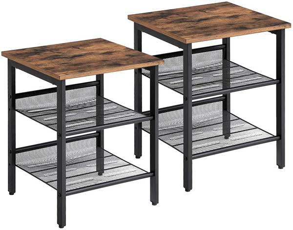 2 tables de chevet style industriel