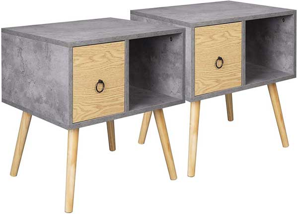 Lot de 2 tables de chevets basses