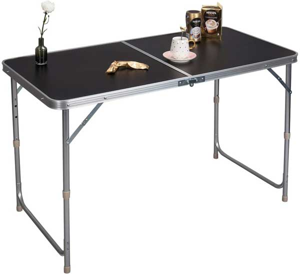 Table pliable en aluminium