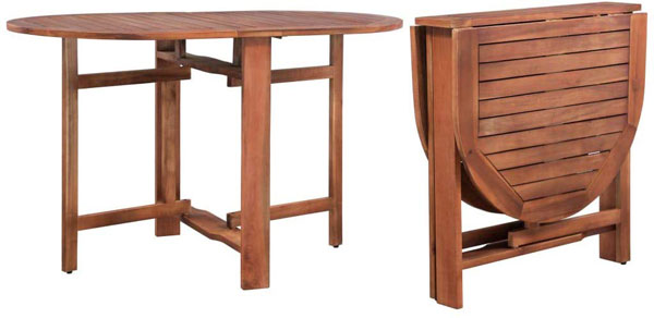 Table ovale bois d'acacia