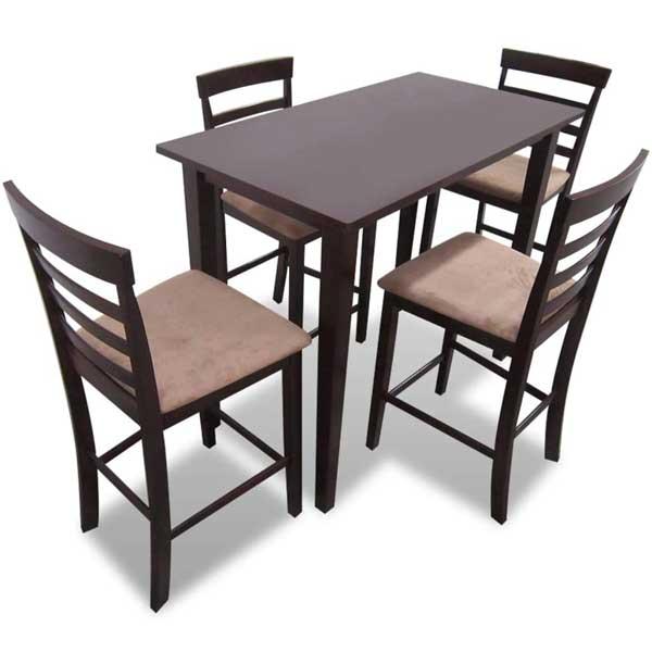Table +  4 chaises en bois