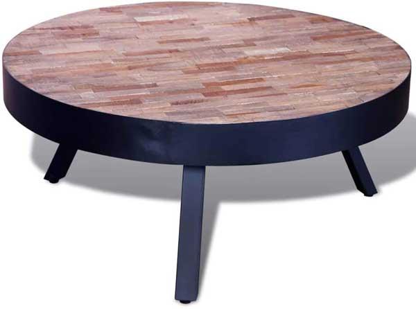 Table basse basse en bois de Teck