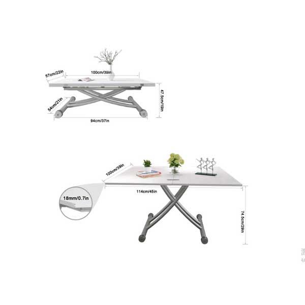 Table extensible r glable en hauteur ma table de salle Hauteur de table a manger