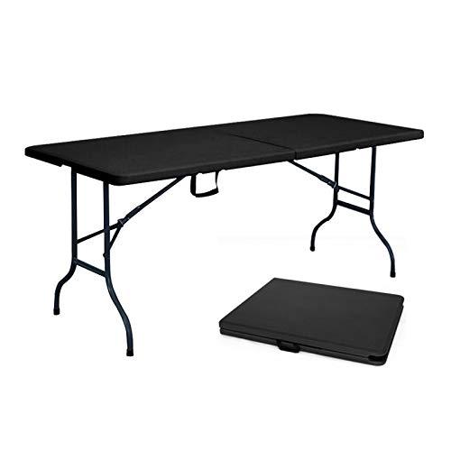 Table pliante noire 8 personnes